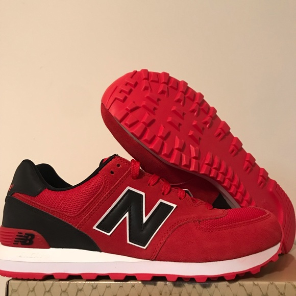 online store a9536 ca31b New Balance 574 Classics Red Black White sz11